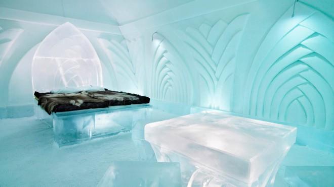 Ice Hotel v Jukkasjärvi na Švedskem.