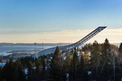 Airbnb penthouse na vrhu skakalnice Holmenkollen