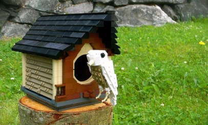 Lego kocke lahko uporabite za izdelavo za ptičje hišice.