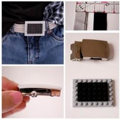 Lego kocke lahko uporabite za izdelavo okrasne zaponke za pas.