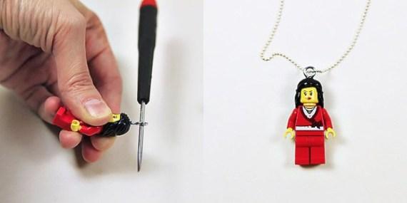 Lego kocke lahko uporabite za izdelavo verižice.