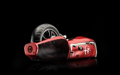 Odbita študija motocikla Alfa Romeo Spirito