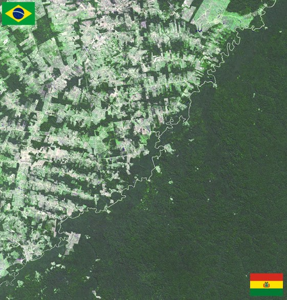 Bolivija in Brazilija