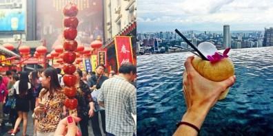 Bingtang hulu na Kitajskem (levo) in kokos v Singapurju (desno).