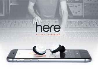 Slušalke Here vam dajo preko pametnega telefona popolno oblast nad zvokom okoli vas.