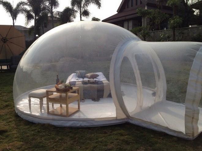 Provokativen Bubble Tent je šotor za pogumne.