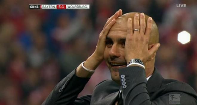 Tudi Guardiola ni mogel verjeti svojim očem.