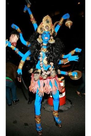 Heidi Klum kot hindujska boginja Kali