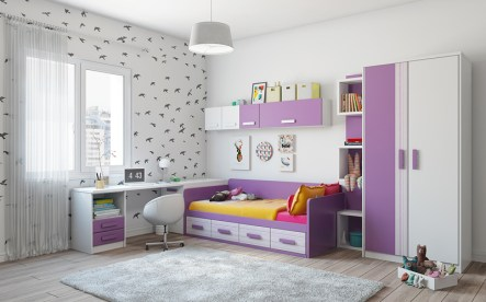 Otroška soba v vijolični