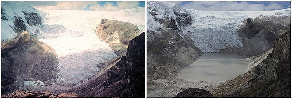 Ledenik Qori Kalis, Peru: julij 1978 - julij 2011