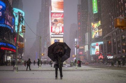 13. mesto: Zasneženi Times Square (New York, ZDA)