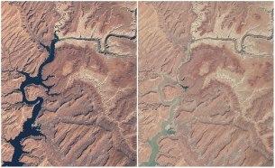 Jezero Powell, Arizona in Utah, ZDA. Marec 1999 - maj 2014