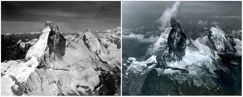 Matterhorn (Alpe), med Švico on Italijo. Avgust 1960 - avgust 2005