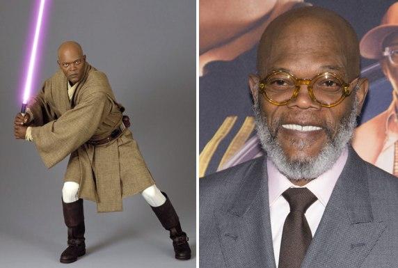 Samuel L Jackson kot Mace Windu, 2005 in 2015