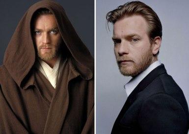 Ewan Mcgregor kot mladi Obi-Wan Kenobi, 2005 in 2015