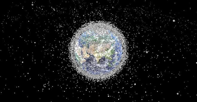 Vesoljske smeti postajajo resen problem.