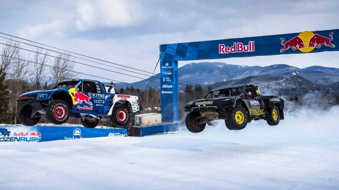 Utrinek iz dirke Red Bull Frozen Rush 2016.