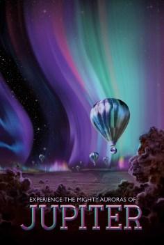 Potovanja v vesolje na retro plakatih
