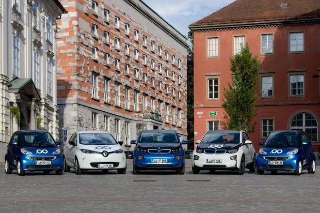 Flota električnih vozil - pozdravlja Ljubljančane