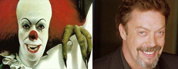 Tim Curry kot morilski klovn v filmu It.