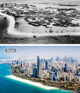 Abu Dhabi (Združeni arabski emirati) – leta 1970 in danes