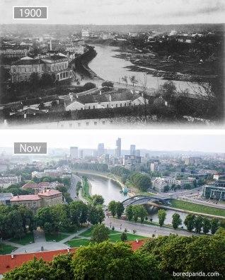 Vilna (Litva) – leta 1900 in danes