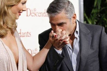 George Clooney in Stacy Keibler