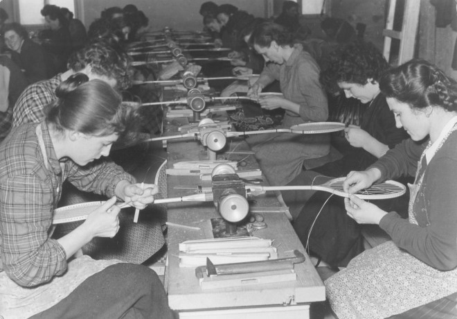 Proizvodnja loparjev (Foto: Blaž Finžgar)