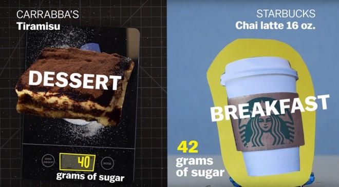 Ameriški zajtrk vsebuje toliko slakorja kot tvoja sladka pregreha.