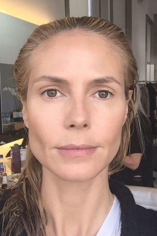 Heidi Klum brez ličil