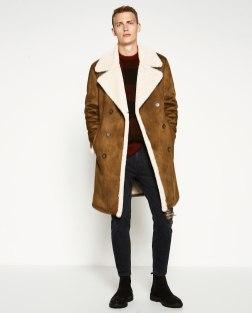 Moški krzneni plašči 2016: Zara; 129,00 €