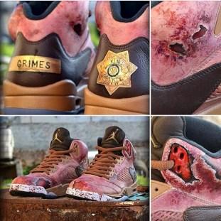 Top personalizirane superge: Walkign Dead Nike Air Jordan 5s