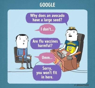 Razgovor za službo pri Googlu