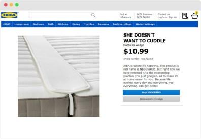 Ikeini izdelki, poimenovani po težavah v medosebnih odnosih.