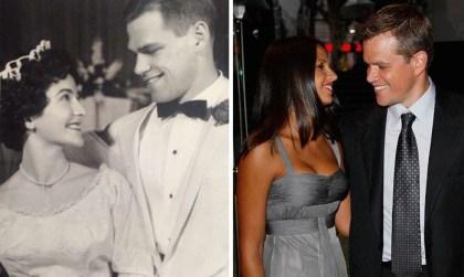 Poročna fotografija para iz 1961 in Matt Damon