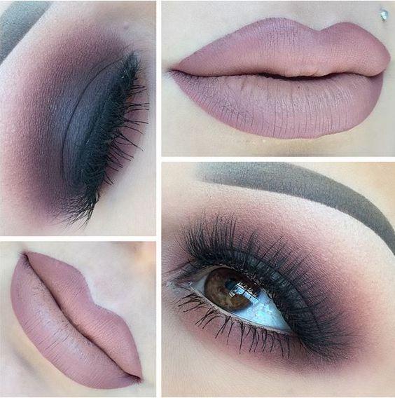"Make-up v barvi ""mauve"""