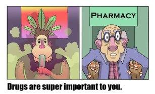 Brez zdravil oz. ''zdravil'' praktično ne gre.