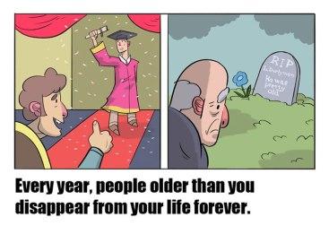 Vsako leto ljudje, starejši od njih, zapuščajo njihova življenja.