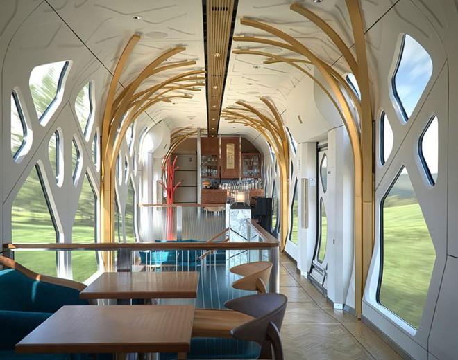 Luksuzni interier - vlak - Shiki-Shima