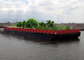 Plavajoči zelenjavni vrt v New Yorku