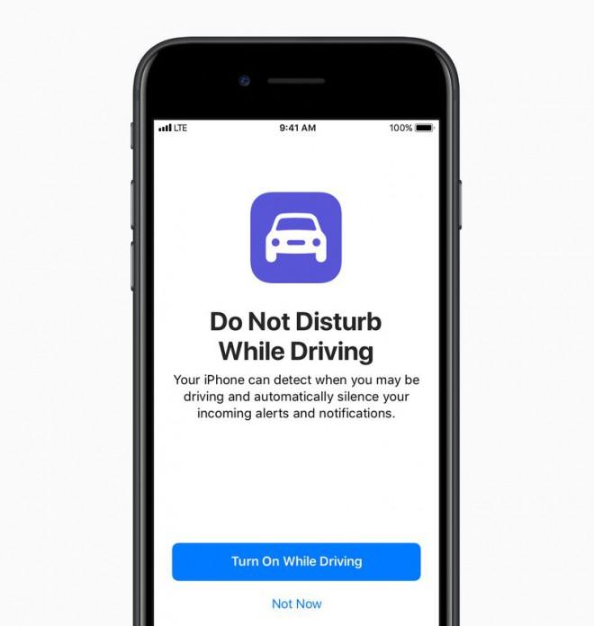 iOS 11 predstavlja funkcijo, kjer nas telefon med vožnjo ne bo več motil.