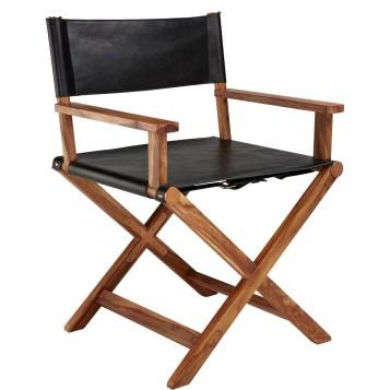 Curator: Režijski stol v črnem usnju