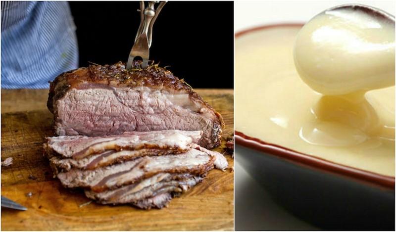 Pečeno meso in majoneza