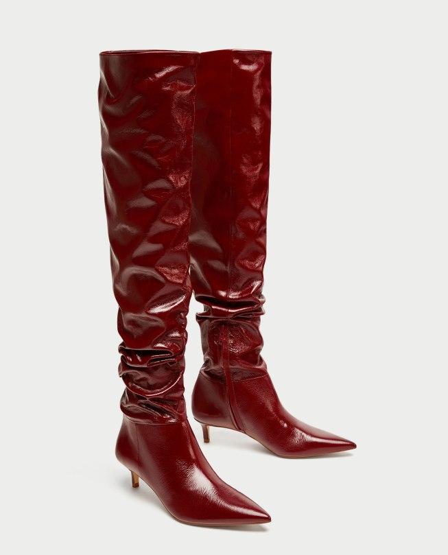 Najlepši škornji čez kolena za jesen in zimo 2017: Zara