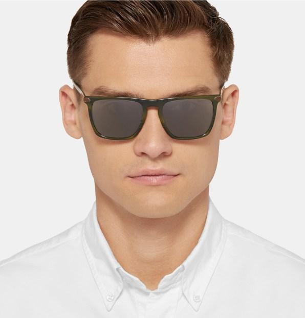 Moška modna sončna očala 2018: sončna očala z okvirji v obliki črke D, Oliver Peoples + Berluti