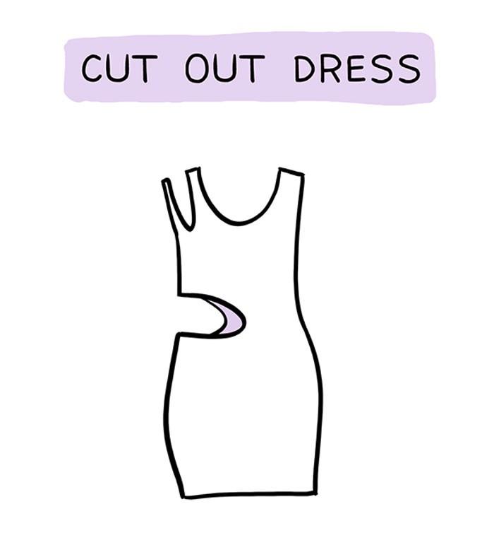 Obleka s stranskimi izrezi