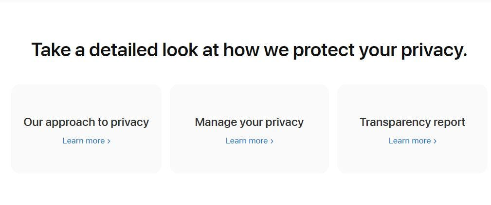 Manage your privacy.