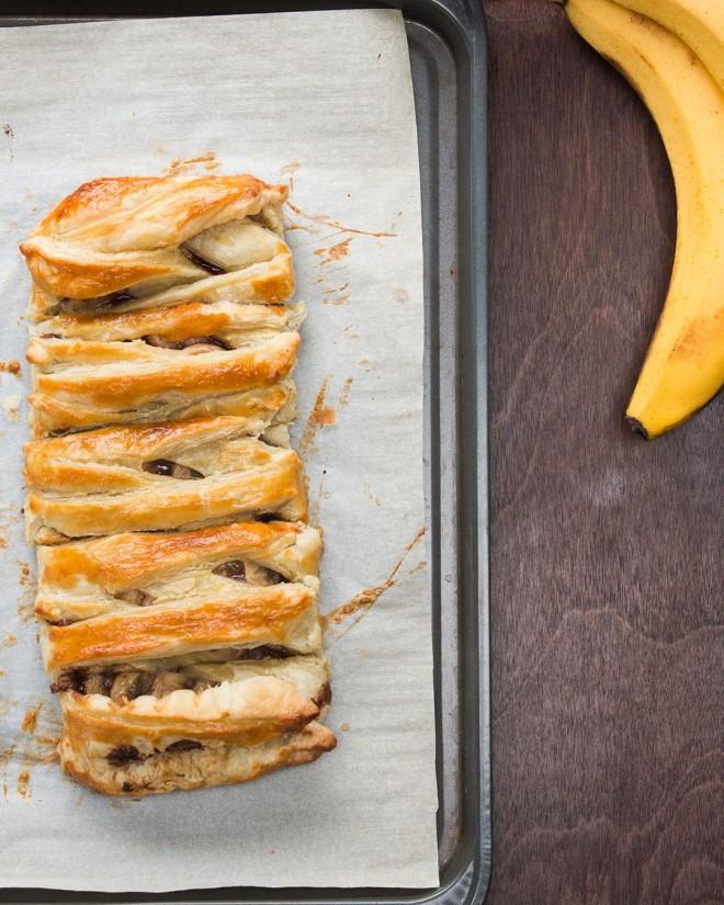 Pletenica z bananami in Nutello