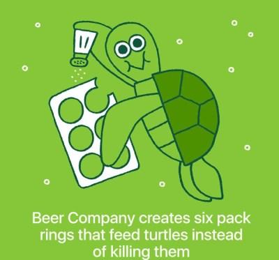 Saltwater Brewery je ustvarila embalažo za pivo, ki je prijazna želvam.
