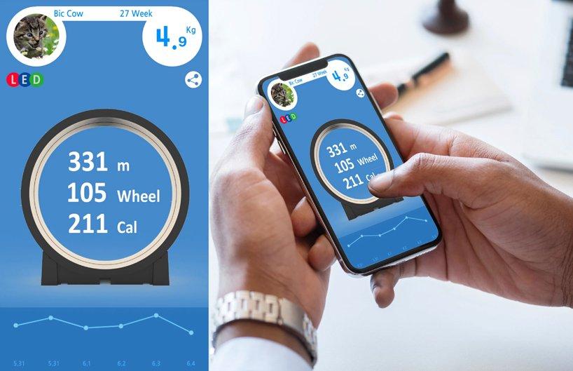 Kolo deluje v navezi z aplikacijo za pametne telefone.